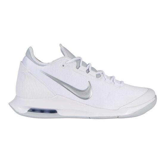 Nike Air Max Wildcard Hardcourt Womens Tennis Shoes, White / Silver, rebel_hi-res