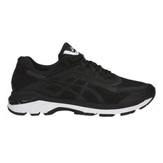 Asics GT 2000 6 Mens Running Shoes Black / White US 7, Black / White, rebel_hi-res