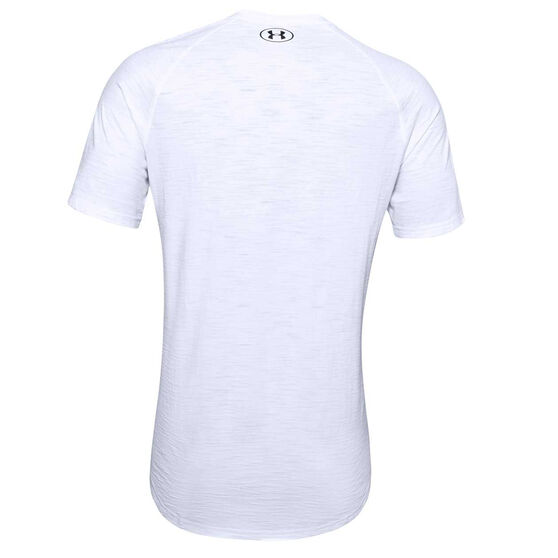 Under Armour Mens Charged Cotton Tee, White, rebel_hi-res