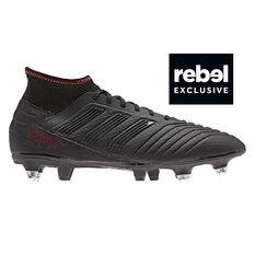 90620963f adidas Predator 19.3 SG Mens Football Boots Black / Red US 7, Black / Red