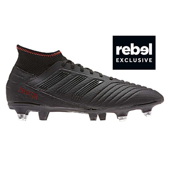dc6f4c829d00 adidas Predator 19.3 SG Mens Football Boots, Black / Red, rebel_hi-res