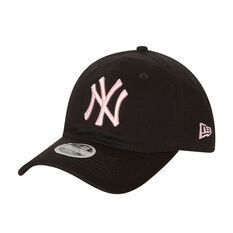 New York Yankees Womens New Era 9TWENTY Black and Pink Cap, , rebel_hi-res