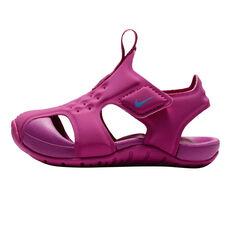 Nike Sunray Protect 2 Toddlers Sandals Fuschia US 2, Fuschia, rebel_hi-res