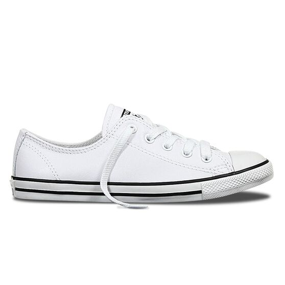 Converse Dainty Low Leather Womens Casual Shoes, White, rebel_hi-res