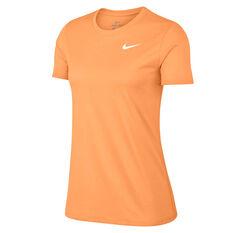 Nike Womens Dry Legend Crewneck Training Tee Orange XS, Orange, rebel_hi-res
