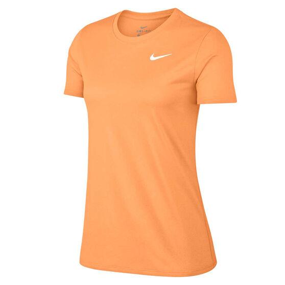 Nike Womens Dry Legend Crewneck Training Tee, Orange, rebel_hi-res