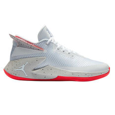 Nike Jordan Fly Lockdown Mens Basketball Shoes White / White US 7, White / White, rebel_hi-res