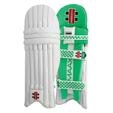 Gray Nicolls MAAX 900 Junior Cricket Batting Pads Green Youth Right Hand, Green, rebel_hi-res