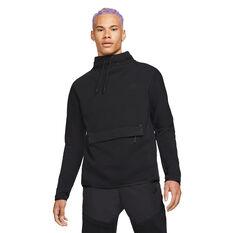 Nike Sportswear Mens Tech Fleece Funnel Neck Sweatshirt Black XS, Black, rebel_hi-res