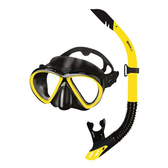 Mares Bonito Mask and Snorkel Black / Yellow, , rebel_hi-res
