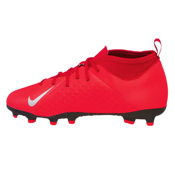 Nike Phantom Vision Club Kids Football Boots, Red / Silver, rebel_hi-res