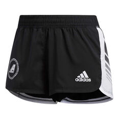 adidas Womens Moto Shorts Black XS, Black, rebel_hi-res