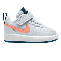 Nike Court Borough Low 2 Toddler Shoes Blue/Coral US 4, Blue/Coral, rebel_hi-res