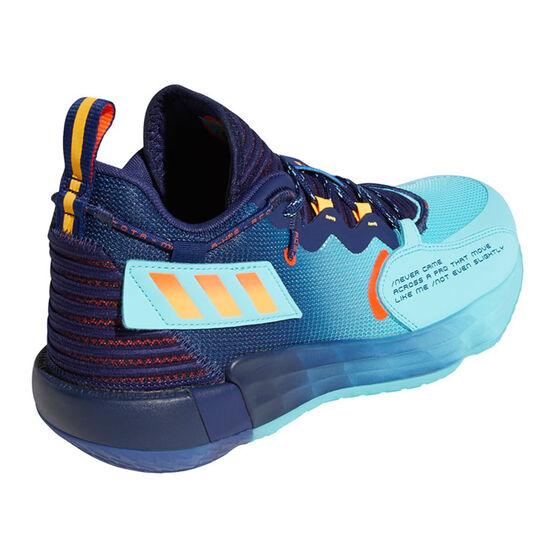 adidas Dame 7 Renaissance Man Basketball Shoes, Blue, rebel_hi-res