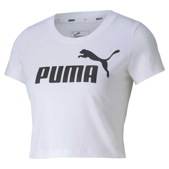 Puma Womens Essential Fitted Tee, White, rebel_hi-res