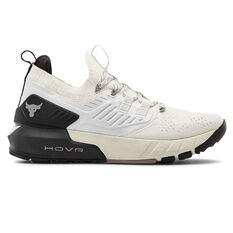 Under Armour Project Rock 3 Womens Training Shoes White/Black US 6, White/Black, rebel_hi-res