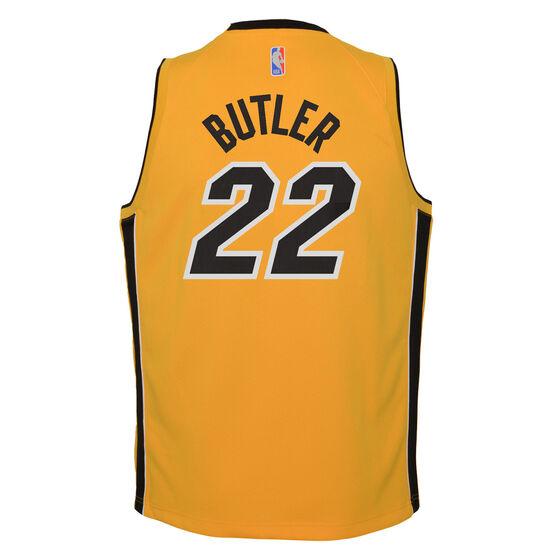Nike Miami Heat Jimmy Butler 2020/21 Kids Earned Jersey, Yellow, rebel_hi-res