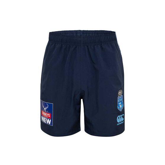 NSW State Of Origin 2020 Mens Gym Shorts, Blue, rebel_hi-res