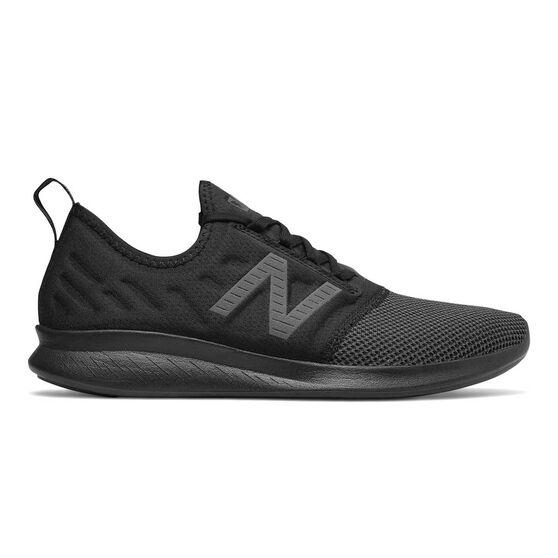 New Balance FuelCoast v4 Mens Running Shoes Black US 7, Black, rebel_hi-res