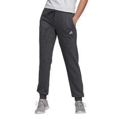 adidas Womens Essentials French Terry Logo Pants Grey XS, Grey, rebel_hi-res