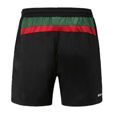 South Sydney Rabbitohs 2020 Mens Training Shorts Black S, Black, rebel_hi-res