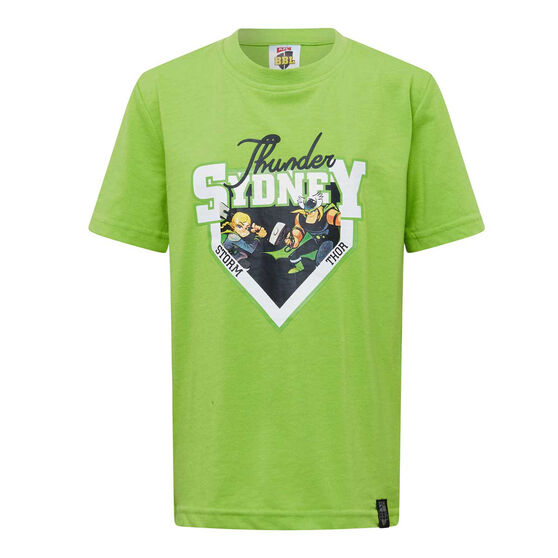 Sydney Thunder 2019/20 Kids Mascot Tee, Green, rebel_hi-res