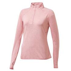 Ell & Voo Womens Amelia Quarter Zip Top Pink XS, Pink, rebel_hi-res