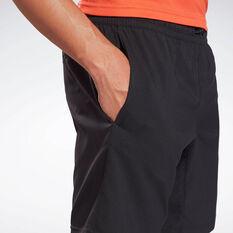 Reebok Mens Workout Ready Woven Shorts, Black, rebel_hi-res