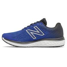New Balance 680 v7 2E Mens Running Shoes Blue US 8, Blue, rebel_hi-res