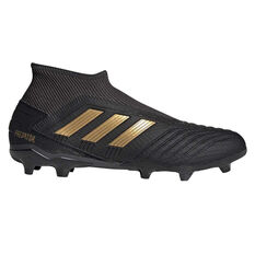 adidas Predator 19.3 Laceless Football Boots Black / Gold US Mens 7 / Womens 8, Black / Gold, rebel_hi-res