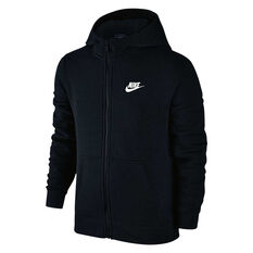 Nike Boys Sportswear Club Hoodie Black / White XS Junior, Black / White, rebel_hi-res