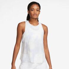Nike Womens Icon Clash City Sleek Running Tank Blue XS, Blue, rebel_hi-res