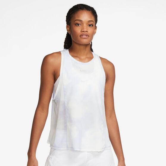 Nike Womens Icon Clash City Sleek Running Tank, Blue, rebel_hi-res