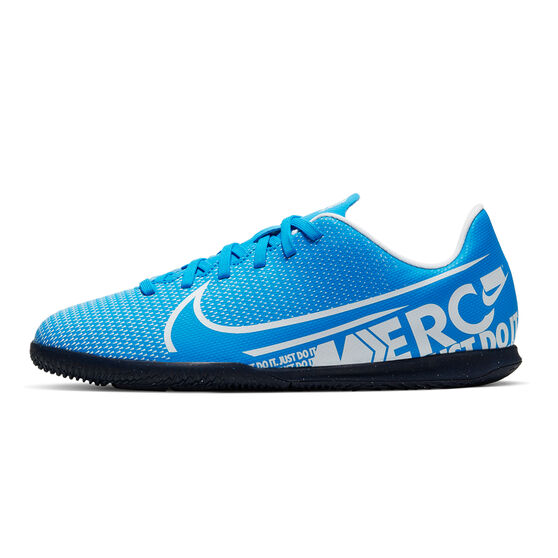 Nike Mercurial Vapor XIII Club Kids Indoor Soccer Shoes, Blue / White, rebel_hi-res