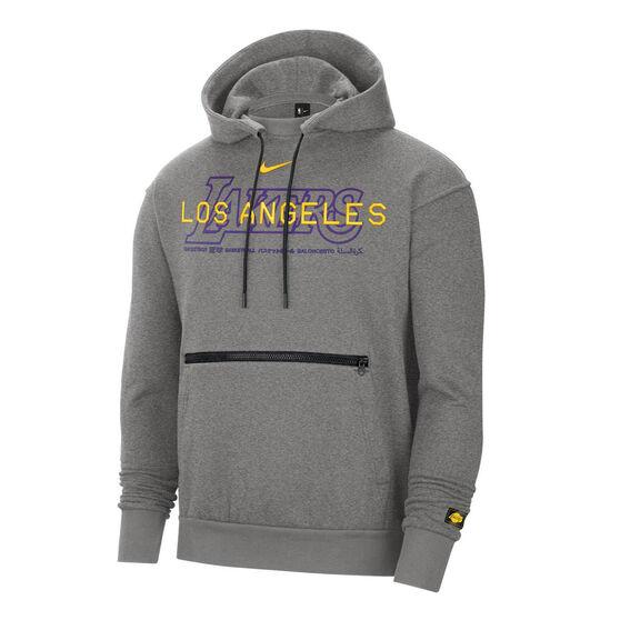 LA Lakers Courside Nike Mens Hoodie, Grey, rebel_hi-res