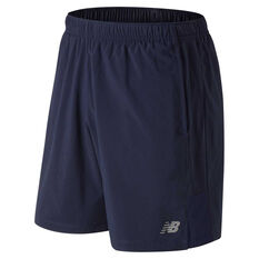 New Balance Mens Accelerate 7in Running Shorts Navy S, Navy, rebel_hi-res