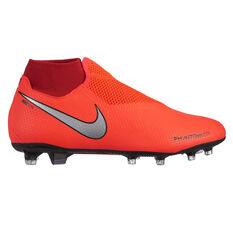 Nike Phantom Vision Pro Mens Football Boots Red / Silver US Mens 7 / Womens 8.5, Red / Silver, rebel_hi-res