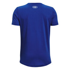 Under Armour Boys Sportstyle Logo Tee Blue XS, Blue, rebel_hi-res