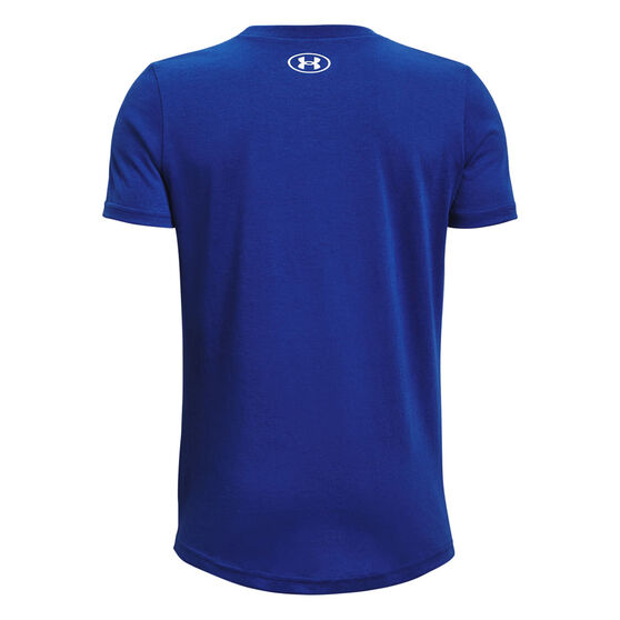 Under Armour Boys Sportstyle Logo Tee, Blue, rebel_hi-res