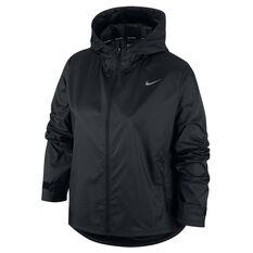 Nike Womens Essential Running Jacket Black XS, Black, rebel_hi-res
