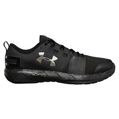 Under Armour Commit Mens Training Shoes Black / Silver US 7, Black / Silver, rebel_hi-res