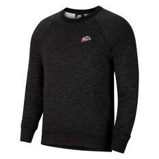 Nike Mens Sportswear Heritage Crew Sweatshirt Black S, Black, rebel_hi-res