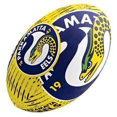 Steeden NRL Parramatta Eels 11in Supporter Rugby League Ball, , rebel_hi-res