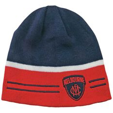 Melbourne Demons Reversible AFL Beanie OSFA, , rebel_hi-res