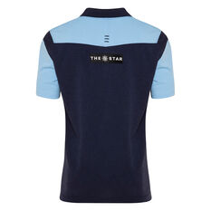 NSW Blues State of Origin 2020 Mens Media Polo Navy / Blue S, Navy / Blue, rebel_hi-res