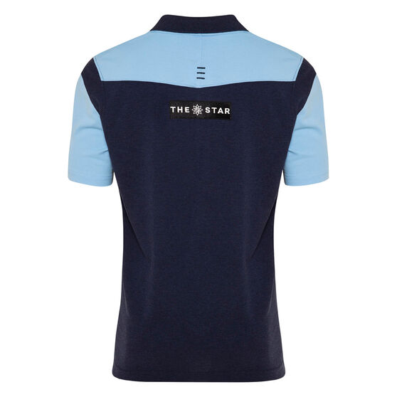 NSW Blues State of Origin 2020 Mens Media Polo, Navy / Blue, rebel_hi-res