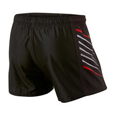 Warriors Mens Home Supporter Shorts Black S, Black, rebel_hi-res