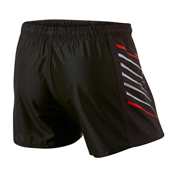 Warriors Mens Home Supporter Shorts, Black, rebel_hi-res