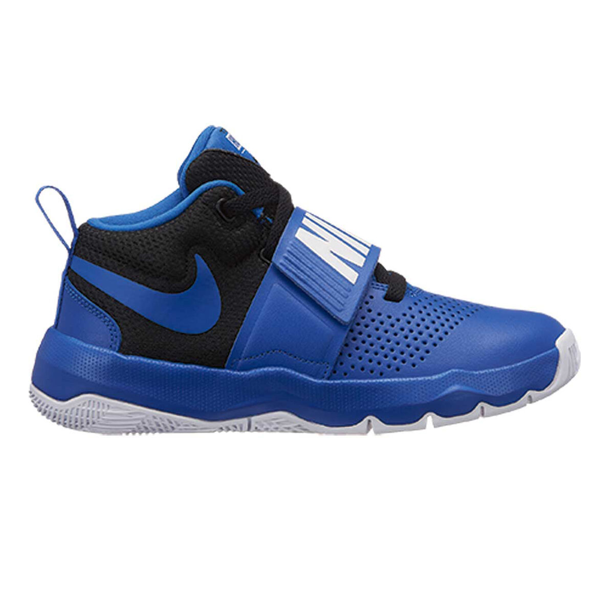 3647b91acf2710 australia nike team hustle d 8 kids basketball shoes blue black us 4 852a4  e4b24