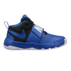 Nike Team Hustle D 8 Kids Basketball Shoes Blue / Black US 4, Blue / Black, rebel_hi-res